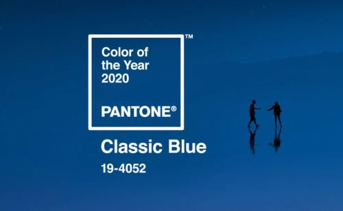 Pantone Color of the year 2020. Classic blue