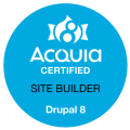 Drupal 8: Site Builder Certified Badge